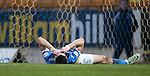 St Johnstone v Stenhousemuir&hellip;21.01.17  McDiarmid Park  Scottish Cup<br />Graham Cummins reacts after a bad miss<br />Picture by Graeme Hart.<br />Copyright Perthshire Picture Agency<br />Tel: 01738 623350  Mobile: 07990 594431