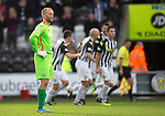 St Mirren v St Johnstone...19.10.13      SPFL<br /> A gutted St Johnstone keeper Alan Mannus<br /> Picture by Graeme Hart.<br /> Copyright Perthshire Picture Agency<br /> Tel: 01738 623350  Mobile: 07990 594431