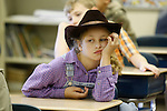 Gracie Spencer, a 3rd grader at Beattyville Elementary, listens to a guest speaker on Appalachian Day on October 1, 2010. .Photo by Latara Appleby