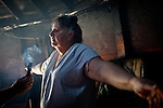 Winnemem tribal member Jeanne France is blessed in a traditional ceremony in their tribal prayer house in Jones Valley, Calif., May 16, 2012..CREDIT: Max Whittaker/Prime for The Wall Street Journal.CEREMONY.