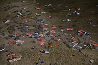 BENIC&Agrave;SSIM, SPAIN - Hundreds of cups and plastic bottles litter the ground of the festival site...Described by some as a Mediterranean Glastonbury, the Festival Internacional de Benic&agrave;ssim (FIB) is the largest music festival outside the UK to target British visitors. In 2010, seven of the eight main headline slots were filled by English bands...A small coastal town of 13,000 inhabitants, Benic&agrave;ssim hosted some 200,000 visitors in 2009, with 40% of those believed to be coming from the UK. In 2010, attendances fell to 127,000 visitors but the percentage of UK visitors is believed to have risen.