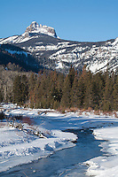 North Fork of the Shoshone during winter