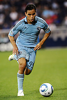 Omar Bravo (99) Sporting KC midfielder in action... Sporting KC defeated Vancouver Whitecaps 2-1 at LIVESTRONG Sporting Park, Kansas City, Kansas.