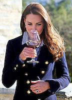 Kate, Duchess of Cambridge & Prince William enjoy wine tasting at a vineyard - New Zealand