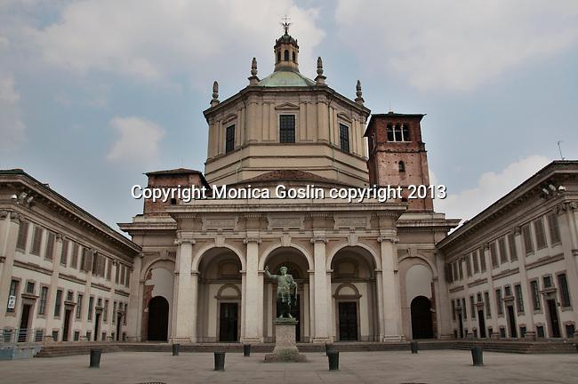 Basilica of San Lorenzo in Milan, Italy