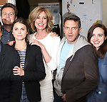 Jonathan Groff, Keri Russell, Christine Lahti, Raul Esparza, Zoe Kazan backstage at the Indigo Theatre Project's Benefit Reading of  'An America Daughter'  at The Tony Kiser Theater on May 8, 2017 in New York City.