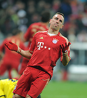 FUSSBALL   1. BUNDESLIGA  SAISON 2011/2012   13. Spieltag  19.11.2011 FC Bayern Muenchen - Borussia Dortmund         Franck Ribery (FC Bayern Muenchen) enttaeuscht