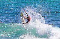 Burleigh Heads, Queensland, Australia (Sunday February 20th 2011). Taj Burrows (AUS). .Breaka Burleigh Pro - 2011 An International 4-Star Rated $US85,000 Event. DEFENDING event champion Taj Burrow (AUS) spun his way to victory today in the Breaka Burleigh Pro. Run at high tide along the Burleigh rock break. Burrow landed air reverse after air reverse to lock down the win. Joel Parkinson (AUS) in second made a late charge but ran out of time. Bede Durbidge (AUS) was third with Jayke Sharpe (AUS) in his first ever final finishing 4th. . Photo: joliphotos.com