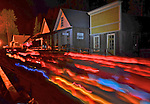 Chinese Autumn Moon Lantern Parade down the main street of Barkerville Historic Town