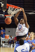 C/F Yancy Gates (Cincinnati, OH / Withrow) shoots the ball during the NBA Top 100 Camp held Saturday June 23, 2007 at the John Paul Jones arena in Charlottesville, Va. (Photo/Andrew Shurtleff)