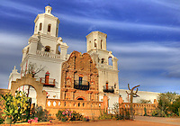 A National Historic Landmark, San Xavier Mission was founded as a Catholic mission by Father Eusebio Kino in 1692. Construction of the current church began in 1783 and was completed in 1797. <br />