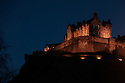 Edinburgh Castle at night.