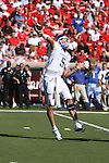 UK's Mike Hartline throws the ball against the University of Louisville at Papa John's Cardinal Stadium on Saturday, Sept. 4, 2010. Photo by Scott Hannigan | Staff