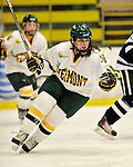 12 February 2011: University of Vermont Catamount defender Peggy Wakeham, a Senior from Bay Roberts, Newfoundland, in action against the University of New Hampshire Wildcats at Gutterson Fieldhouse in Burlington, Vermont. The Lady Wildcats shut out the Lady Cats 2-0 to split their Hockey East twin game weekend series. Mandatory Credit: Ed Wolfstein Photo
