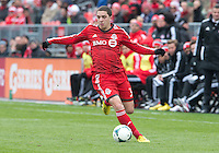 20 April 2013: Toronto FC midfielder Hogan Ephraim #31 in action during an MLS game between the Houston Dynamo and Toronto FC at BMO Field in Toronto, Ontario Canada..The game ended in a 1-1 draw...