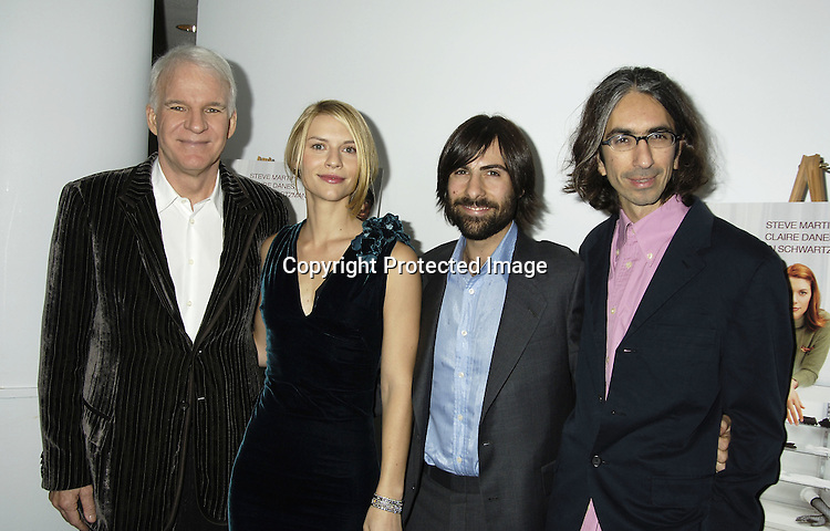 """Steve Martin, Claire Danes, Jason Schwartzman and director Anand Tucker ..at a special  screening of """"Shopgirl"""" on October 17, 2005 hosted by Tina Brown and Harry Evans at the New Beekman  Theatre. ..Photo by Robin Platzer, Twin Images"""