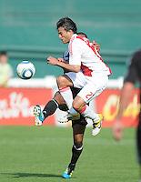 AFC Ajax forward Dario Cvitanich (27) gets fouled.   AFC Ajax defeated DC United 2-1 during an International Friendly at RFK Stadium Sunday May 22, 2011.