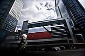 Warsaw 15/04/2010 Poland<br /> People mourning the tragic death of President Lech Kaczynski and his wife.<br /> on picture: Funeral flag in the center of Warsaw<br /> Photo: Adam Lach / Napo Images for The New York Times<br /> <br /> Zaloba po tragicznej smierci Prezydenta Lecha Kaczynskiego i jego malzonki.<br /> na zdjeciu: flaga zalobna w centrum Warszawy.<br /> Fot: Adam Lach / Napo Images for The New York Times