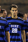 30 August 2013: Duke's Tomas Coulter (ENG). The Duke University Blue Devils hosted the Rutgers University Scarlet Knights at Koskinen Stadium in Durham, NC in a 2013 NCAA Division I Men's Soccer match. The game ended in a 1-1 tie after two overtimes.