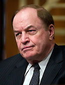 United States Senator Richard Shelby (Republican of Alabama), Ranking Member, U.S. Senate Committee on Banking, Housing, and Urban Affairs listens as Ben Bernanke, Chairman, Board of Governors of the Federal Reserve System testifies on The Semiannual Monetary Policy Report to the Congress. before the committee on Capitol Hill in Washington, D.C. on Thursday, March 1, 2012..Credit: Ron Sachs / CNP