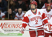 Ryan Ruikka (BU - 2) - The visiting Northeastern University Huskies defeated the Boston University Terriers 6-5 on Friday, January 18, 2013, at Agganis Arena in Boston, Massachusetts.