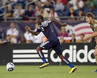 New England Revolution midfielder Sainey Nyassi (17) accelerates. The Philadelphia Union defeated New England Revolution, 2-1, at Gillette Stadium on August 28, 2010.