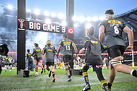 Harlequins players run out onto the field for the start of the match. Aviva Premiership match, between Harlequins and Gloucester Rugby on December 27, 2016 at Twickenham Stadium in London, England. Photo by: Patrick Khachfe / JMP