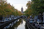 Canal in Delft, Holland