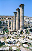 Libya   Cyrene.Archaeological site, Apollo sanctuary,  .City founded by the Greek 3rd century BC.Ruins of Sanctuary of Apollo.UNESCO World Heritage Site......