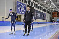SPEED SKATING: SALT LAKE CITY: 18-11-2015, Utah Olympic Oval, ISU World Cup, training, Erik Bouwman (trainer/coach Team KOR), ©foto Martin de Jong