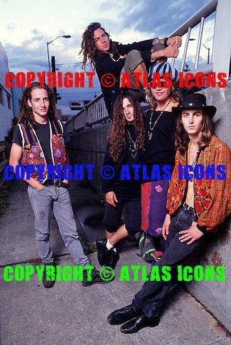 Pearl Jam, 1991 Studio Session<br /> Photo Credit:Joe Giron /Atlasicons.com
