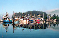 Salmon seiners in port in Dog Bay Harbor, Kodiak, Alaska