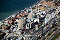 aerial photograph San Onofre Nuclear Generating Station Pacific Coast San Diego California