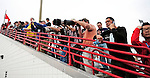 9 March 2010: Washington Nationals' pitcher Stephen Strasburg is sought out by fans and media alike during warm up bull-pen pitches prior to a Spring Training game against the Detroit Tigers at Space Coast Stadium in Viera, Florida. The Tigers defeated the Nationals 9-4 in Grapefruit League action. Mandatory Credit: Ed Wolfstein Photo