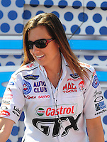 Apr. 13, 2008; Las Vegas, NV, USA: NHRA funny car driver Ashley Force prior to the SummitRacing.com Nationals at The Strip in Las Vegas. Mandatory Credit: Mark J. Rebilas-