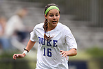19 August 2012: Duke's Laura Weinberg. The Duke University Blue Devils defeated the Elon University Phoenix 8-0 at Koskinen Stadium in Durham, North Carolina in a 2012 NCAA Division I Women's Soccer game.