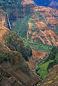 "Waimea Canyon, sometimes called ""the Grand Canyon of the Pacific""; Waimea Canyon State Park, Kauai, Hawaii."