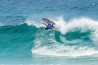 Snapper Rocks, Coolangatta Queensland Australia (Monday, March 14 2016): Matt Wilkinson (AUS) - Round Two of the first WCT event of the year, the Quiksilver Pro Gold Coast, was completed this morning followed by Round Three and two heats of Round Four.  The upsets continued with the Tour Rookies taking out out a good proportion of the heats with Stu Kennedy(AUS) again showing great form by defeating Gabriel Medina (BRA). The event was put on hold for over 2 hours while organisers waited for the tide to drop. The surf was in the 4'-5' range most of the day.Photo: joliphotos.com