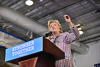 CORAL SPRINGS, FL - SEPTEMBER 30: Democratic presidential candidate Hillary Clinton speaks during a campaign rally at Coral Springs Gymnasium on September 30, 2016 in Coral Springs, Florida. Clinton continues to campaign against her Republican opponent Donald Trump before election day on November 8th.  Credit: MPI10 / MediaPunch