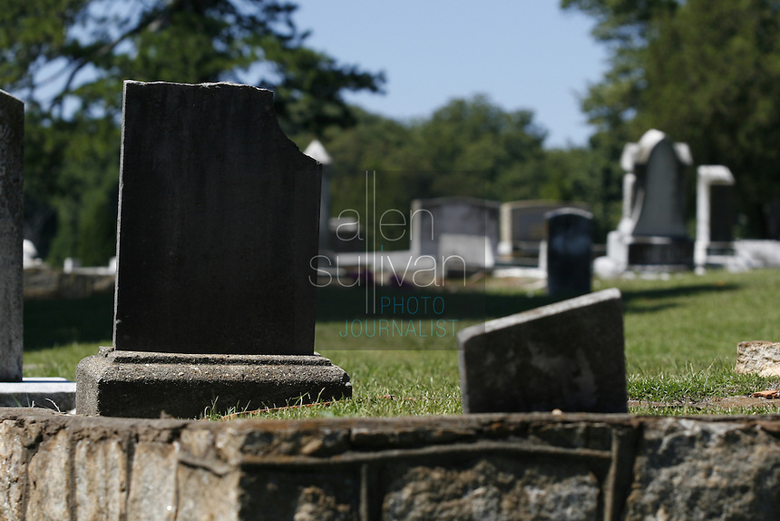 The grave site of George Wilder, who was killed in the 1906 Atlanta Race Riot, at South-View Cemetery. Wilder's grave is the only one definitely known to be that of a victim of the riot.<br />