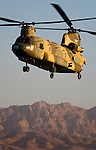 Spanish Ch 47 Chinook operating in Afghanistan