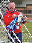 Falkirk manager John Hughes with the Homecoming Scottish Cup