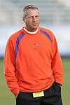 3 November 2006: Clemson head coach Todd Bramble. North Carolina defeated Clemson 3-0 at SAS Soccer Park in Cary, North Carolina in an Atlantic Coast Conference women's college soccer tournament semifinal game.