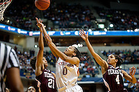 INDIANAPOLIS, IN - APRIL 3, 2011: Melanie Murphy scores during the NCAA Final Four against Texas A&M at Conseco Fieldhouse  in Indianapolis, IN on April 1, 2011.