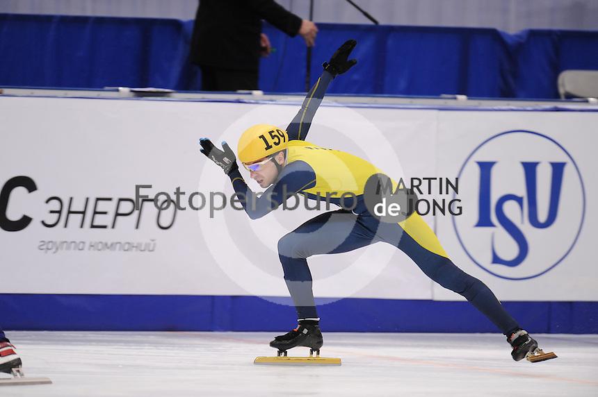 "SHORT TRACK: MOSCOW: Speed Skating Centre ""Krylatskoe"", 14-03-2015, ISU World Short Track Speed Skating Championships 2015, Ranking Races, Dmytro POLTAVETS (#159 | UKR), ©photo Martin de Jong"