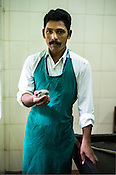 Biju T.P., a masseuse at the National Research Institute of Panchakarma in Cheruthuruthy in Thissur district of Kerala, India.