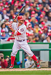 4 April 2014: Washington Nationals infielder Kevin Frandsen in action against the Atlanta Braves during the Nationals Home Opening Game at Nationals Park in Washington, DC. The Braves edged out the Nationals 2-1 in their first meeting of the 2014 MLB season. Mandatory Credit: Ed Wolfstein Photo *** RAW (NEF) Image File Available ***