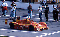 Gianpiero Moretti is greeted on pit road after winning the 24 Hours of Daytona, Daytona International Speedway, Daytona Beach, FL, February 1, 1998.  (Photo by Brian Cleary/www.bcpix.com)