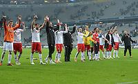 Fussball 2. Bundesliga:  Saison   2012/2013,    14. Spieltag  TSV 1860 Muenchen - 1. FC Koeln  16.11.2012 Jubel nach dem Sieg das Team vom 1. FC Koeln