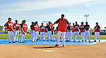13 March 2008: Washington Nationals' Manager Manny Acta gives an early morning talk to his players prior to a Spring Training game against the Florida Marlins at Space Coast Stadium, in Viera, Florida. The Marlins defeated the Nationals 2-1 in the Grapefruit League matchup...Mandatory Photo Credit: Ed Wolfstein Photo